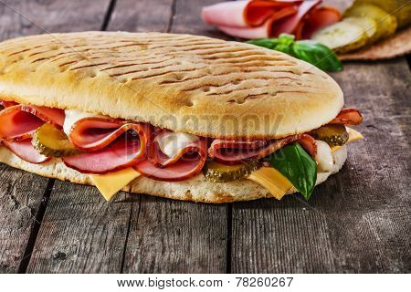 panini with ham and cheese