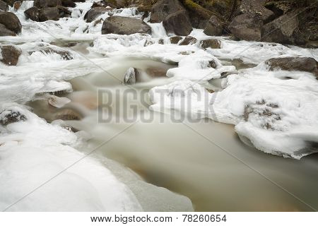 Mountain Stream, Winter Ice