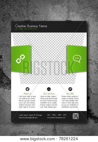 Corporate business flyer template - modern fresh design