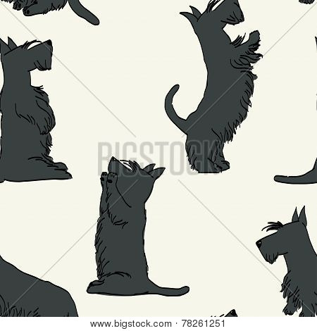 Doodle Dogs Pattern.