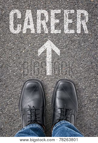 Text on the floor - Career