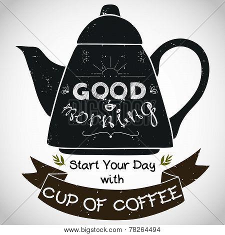 Breakfast Coffeepot Sign