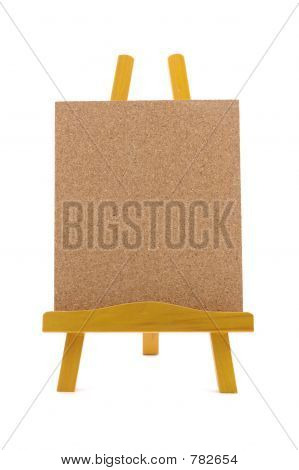 Corkboard with wooden stand
