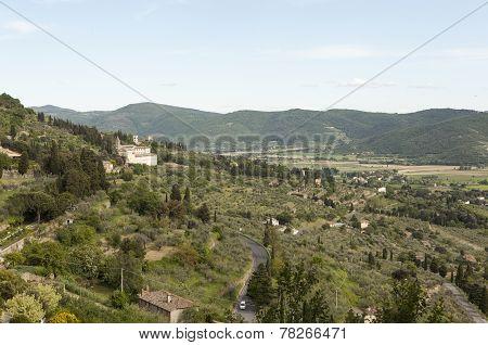 Landscapes of Tuscany. Cortona (Cortona). Italy.