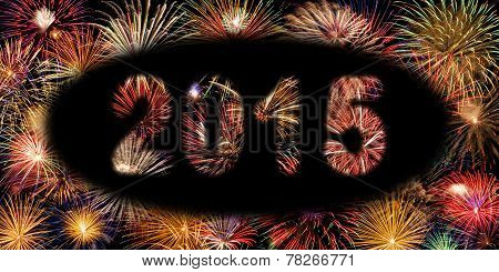 Festive Fireworks New Year 2015