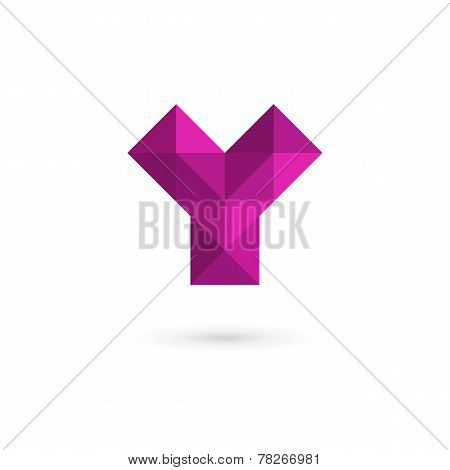 Letter Y Mosaic Logo Icon Design Template Elements
