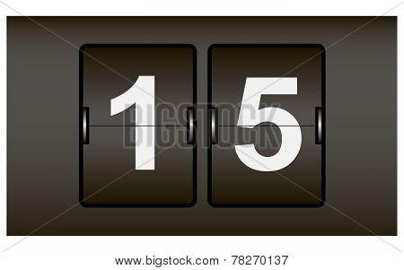 Digital Scoreboard Web Counter