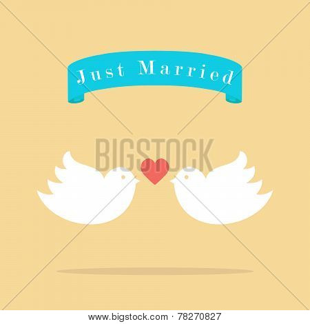 Love Wedding Birds