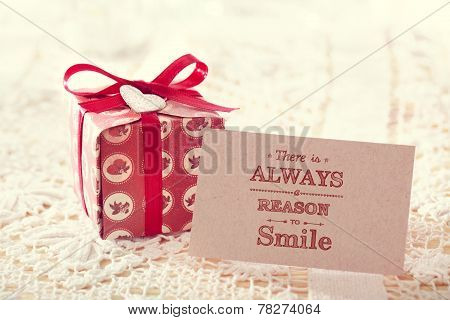 There Is Always A Reason To Smile Message Card