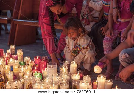 Candles For Our Lady Of Guadalupe