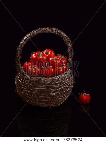 Juicy Organic Cherry Tomatoes Basket