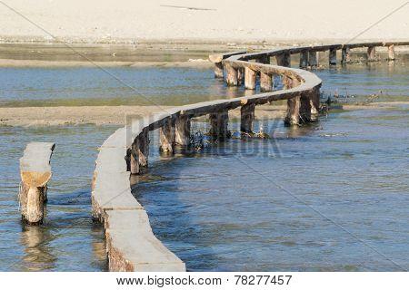 Log Bridge On A Stream