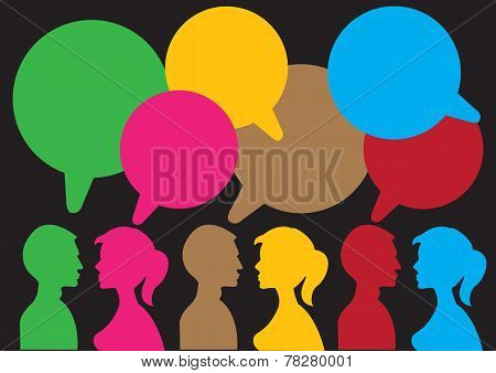 Man and Woman Communication Layout