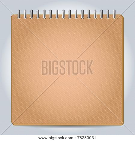 Blank notepad notebook.