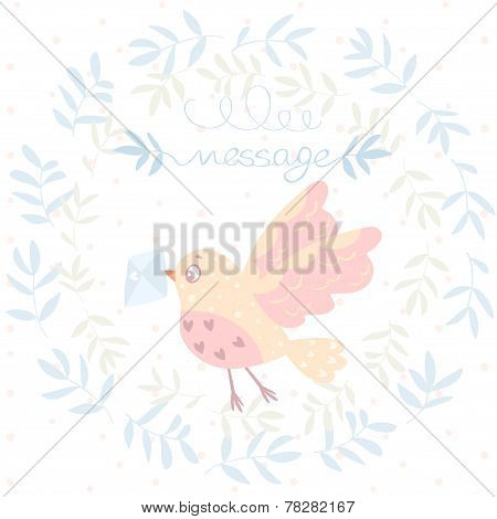 bird and a letter