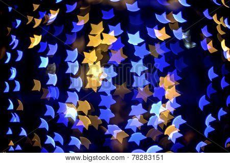 Multicolour Bokeh Star Shape