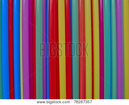 variety of drinking straws colorful background