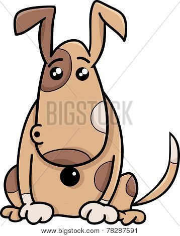Surprised Dog Cartoon Illustration