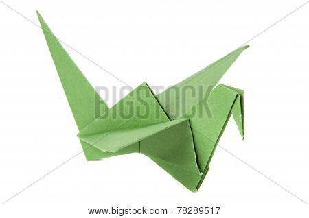 Colored origami cranes