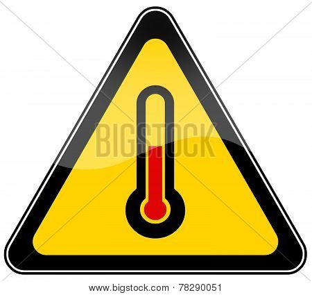 High temperature warning sign