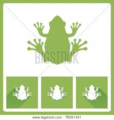 Green Frog Icons
