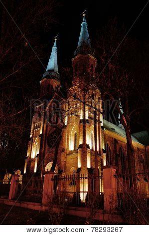 Old school  of church.