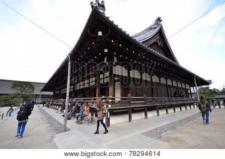 Tourists Visit Tenryuji, Located In The Center Of Arashiyama, Kyoto