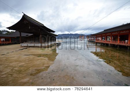 A View Of Itsukushima Shrine In Miyajima, Japan