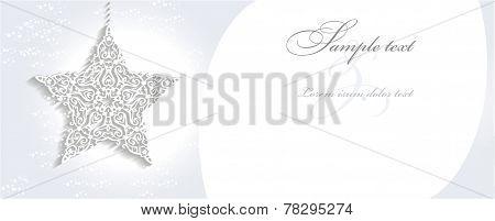 3D christmas ornament star