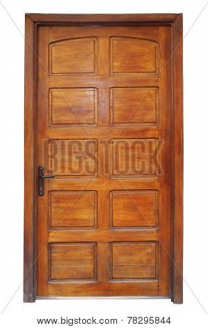Isolated Wood Door With Frame