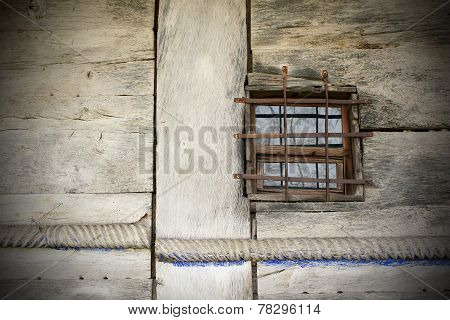 Window On Old Traditional Wooden Building