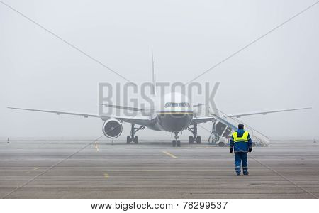 Airplane Mist Person