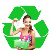 stock photo of waste reduction  - Recycle concept - JPG
