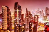foto of skyscrapers  - Beautiful background of Dubai at night - JPG