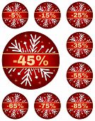 stock photo of year end sale  - Sale tags for christmas or new year or winter sale out - JPG