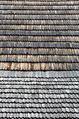 stock photo of shingles  - Old wooden shingle roof - JPG