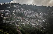 pic of darjeeling  - Cityscape. Houses on the slope Darjeeling West Bengal India
