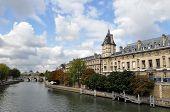 River Seine In Paris, France, Europe. poster