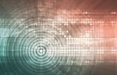 stock photo of rave  - Electronica Technology Abstract as a Art Concept - JPG