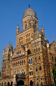 stock photo of municipal  - BMC municipal corporation building in Mumbai - JPG