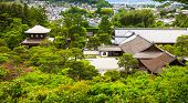 picture of buddhist  - Aerial view of buddhist temple and garden in Kyoto Japan Asia - JPG