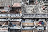 pic of overpopulation  - Poor home or slums facade in Bangkok city Thailand - JPG