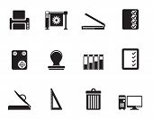 pic of guillotine  - Silhouette Print industry Icons  - JPG