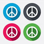 stock photo of peace-sign  - Peace sign icon - JPG