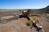 picture of artillery  - Artillery left of the yom kippur war on  - JPG