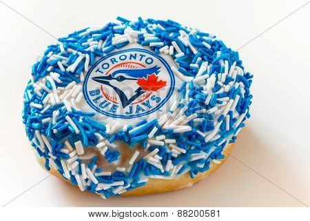 Toronto Blue Jays Themed Doughnut or Donut