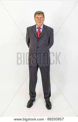 Smiling Mature Businessman Standing