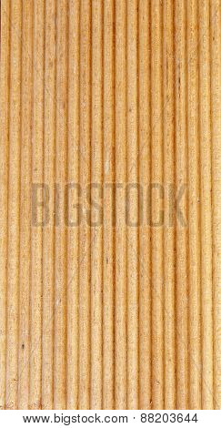 Wooden Light Brown Grooves Panel
