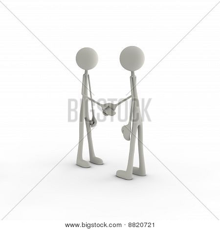 Figures Shaking Hands