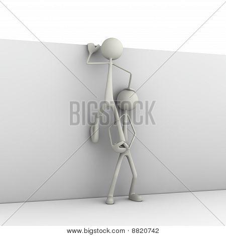 Figures climbing